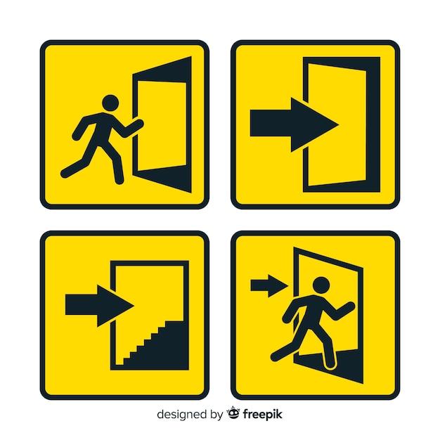 Exit-zeichen-sammlung Kostenlosen Vektoren