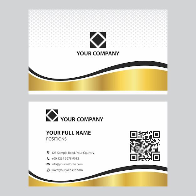 Exklusive Gold Und Silber Visitenkarten Design Vorlage