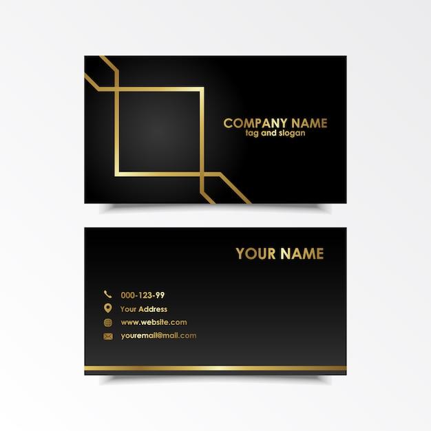 Exklusives Visitenkarten Design Download Der Premium Vektor