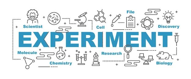 Experiment-vektor-banner Premium Vektoren