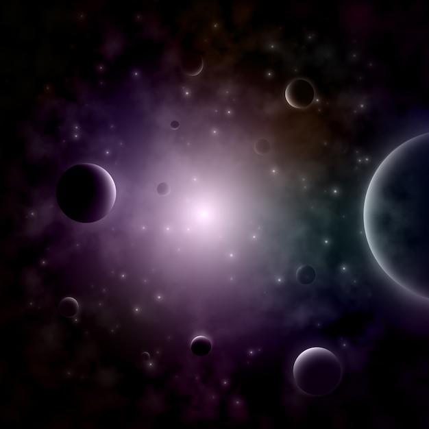 Explodierender stern im raum Premium Vektoren