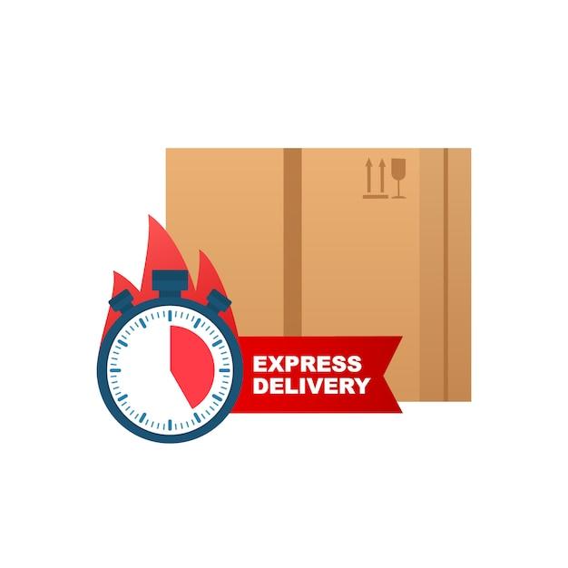 Expressversand-symbol für apps und websites. lieferkonzept. Premium Vektoren