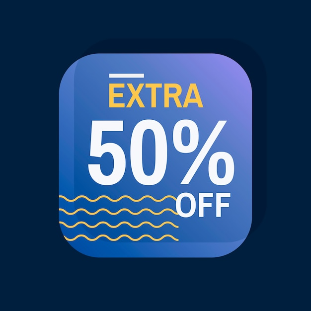 Extra 50% rabatt auf verkaufsausweisvektor Kostenlosen Vektoren