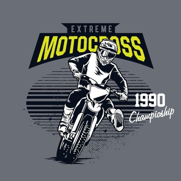 Extremer motocross Premium Vektoren