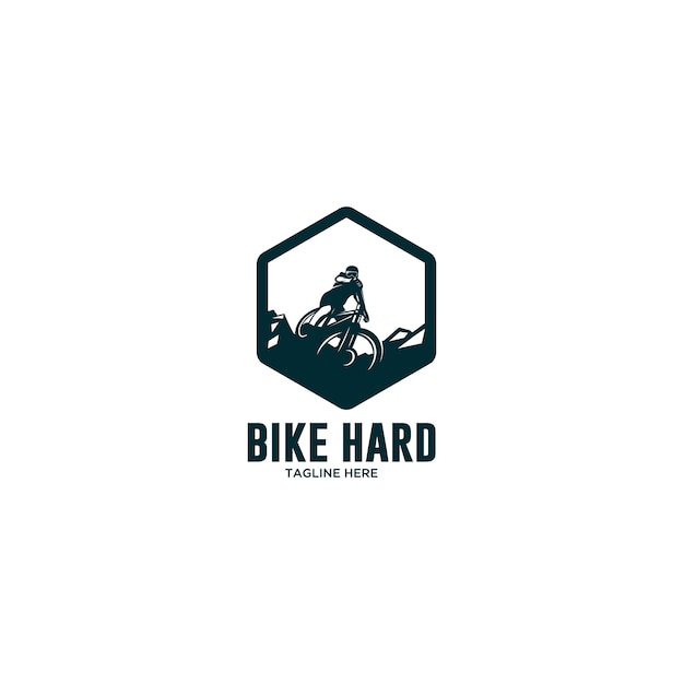 Extremes radfahren bergab logo Premium Vektoren
