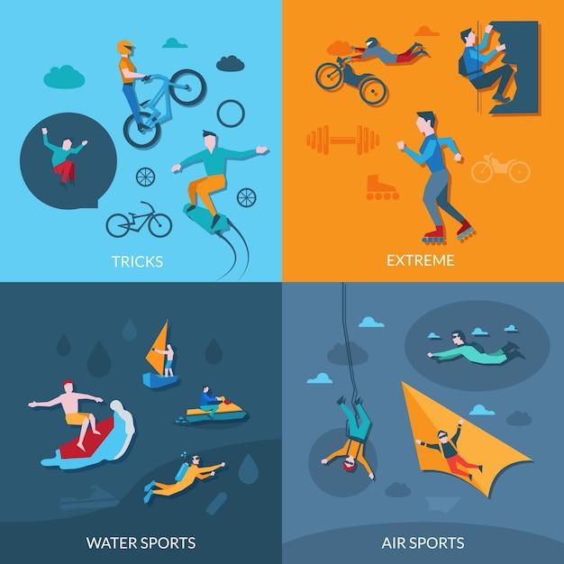 Extremsport-set Kostenlosen Vektoren