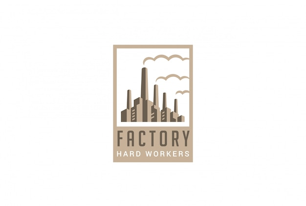 Fabrik logo retro-stil vektor icon. Kostenlosen Vektoren