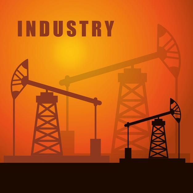 Fabrikindustrie und business design Premium Vektoren