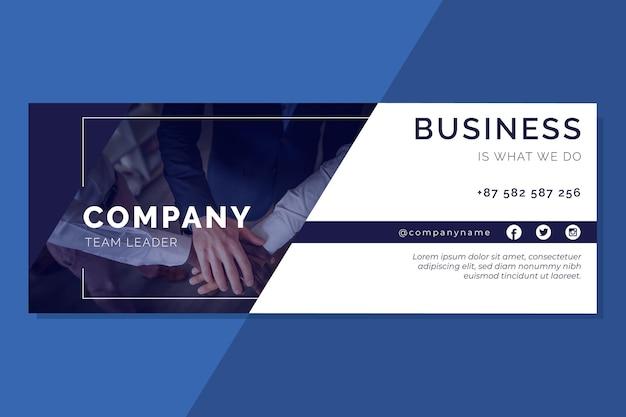 Facebook business cover vorlage Premium Vektoren