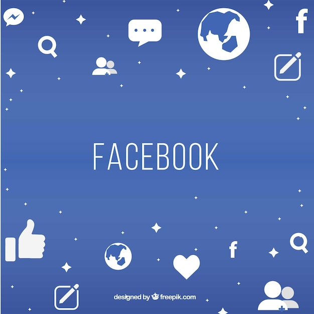 Facebook-hintergrund Kostenlosen Vektoren
