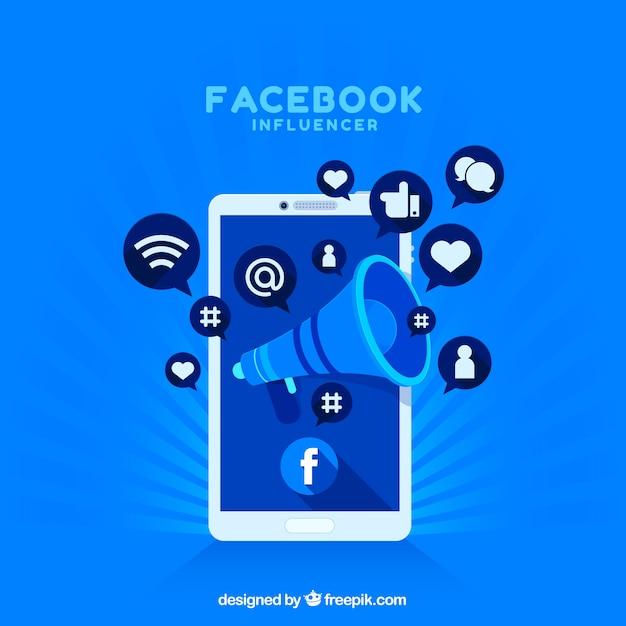Facebook influencer hintergrund Kostenlosen Vektoren