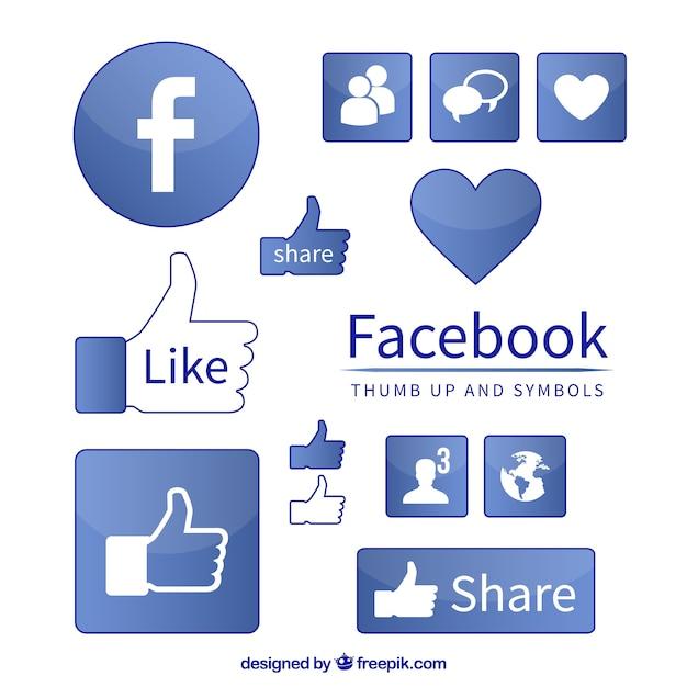 Facebook-symbol symbole Kostenlosen Vektoren