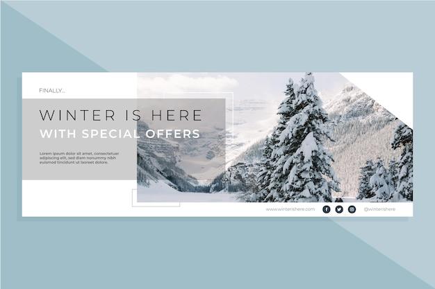 Facebook winter cover vorlage Kostenlosen Vektoren