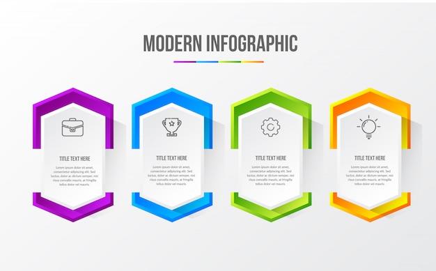 Färben sie modernes infographic mit tabelle 3d Premium Vektoren