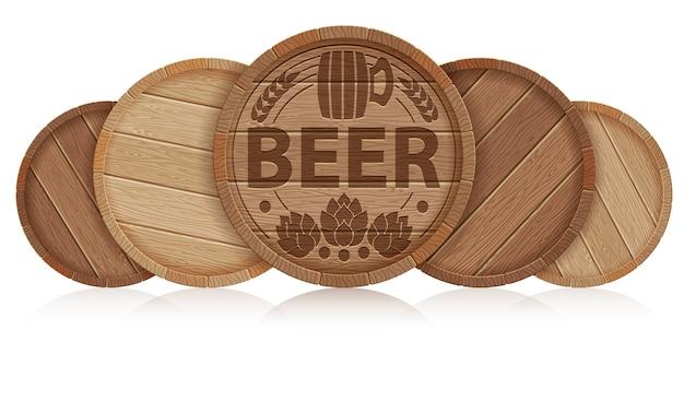 Fässer bier Premium Vektoren
