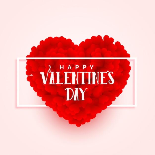Fahnenauslegung des herzens des valentinsgrußtag 3d Kostenlosen Vektoren