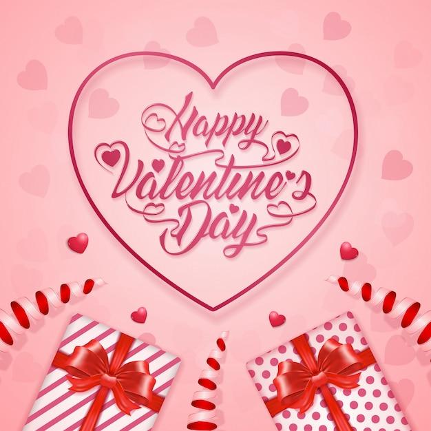 Fahnenschablonenhintergrund des glücklichen valentinstags Premium Vektoren