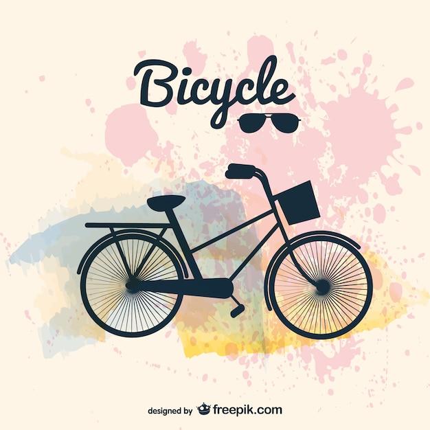 Fahrrad-design vektor-bild Kostenlosen Vektoren