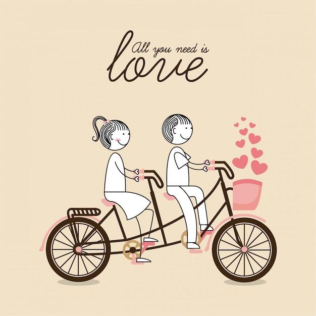 Fahrrad grafikdesign vektor-illustration Premium Vektoren