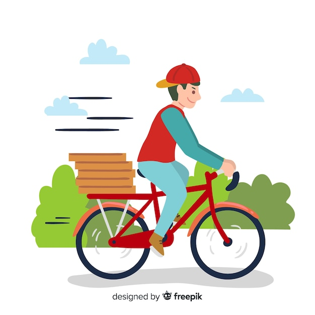 Fahrrad-lieferung Kostenlosen Vektoren