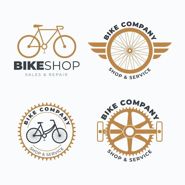 Fahrrad logo vorlage sammlung Kostenlosen Vektoren