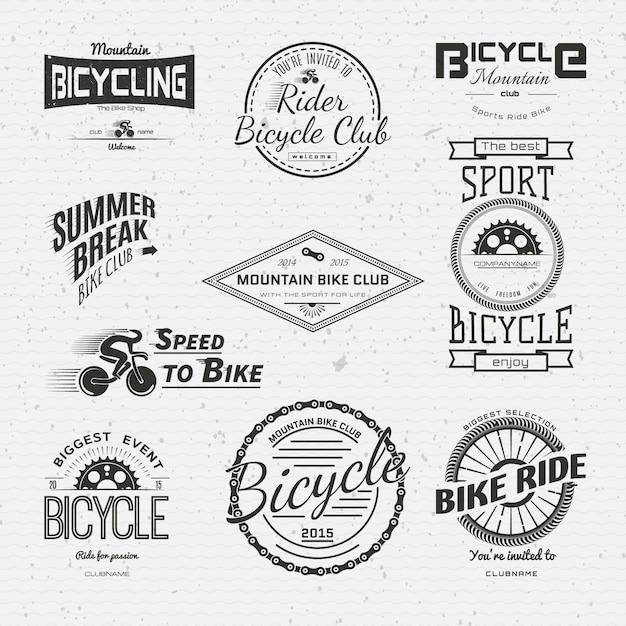 Fahrrad logos logos und etiketten für jede verwendung Premium Vektoren