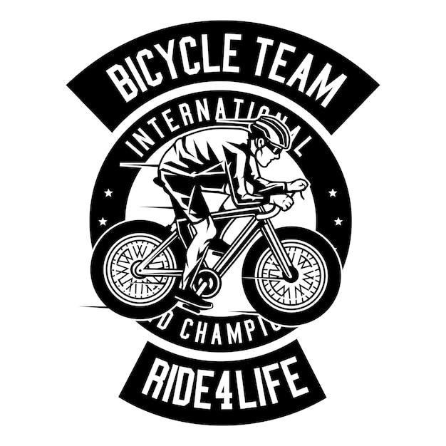 Fahrrad-team Premium Vektoren