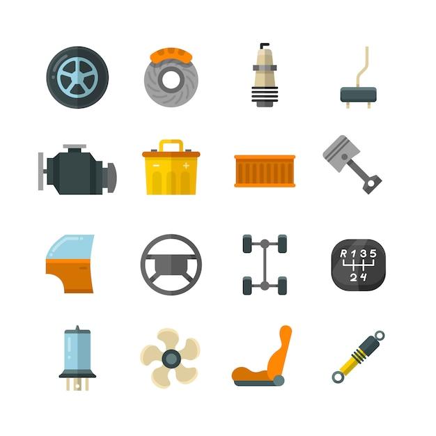 Fahrzeug-autotechnik Premium Vektoren