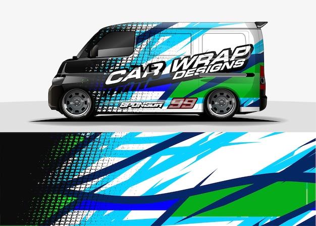 Fahrzeugdesignkonzept für decal branding Premium Vektoren