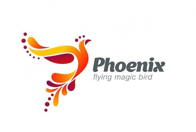 Fairy bird abstract logo-vektor-symbol. Kostenlosen Vektoren