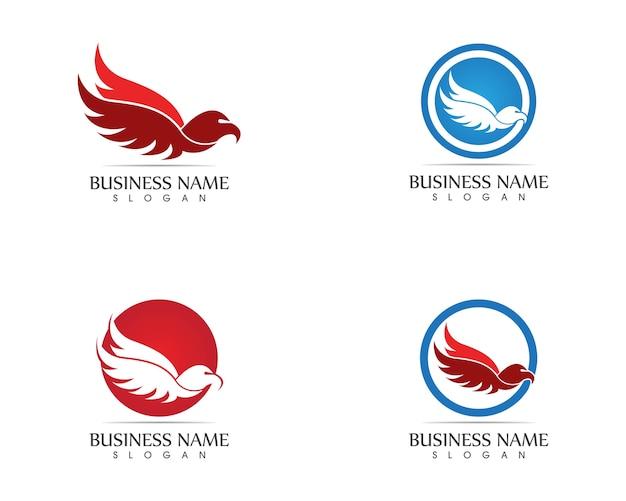 Falcon eagle vogel logo vorlage vektor icon Premium Vektoren