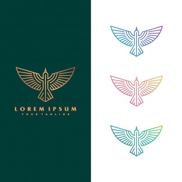 Falcon logo konzept abbildung. Premium Vektoren
