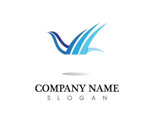 Falcon wing logo vorlage vektor icon-design Premium Vektoren
