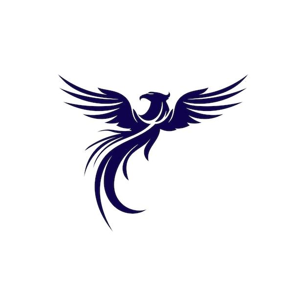 Falcon wings logo template-vektorikonenlogo Premium Vektoren