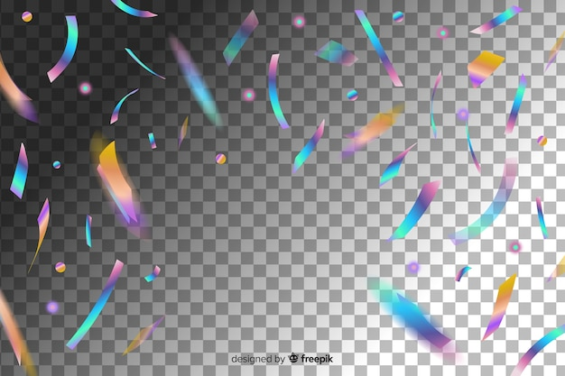 Fallende glänzende glitzerkonfettistücke Kostenlosen Vektoren