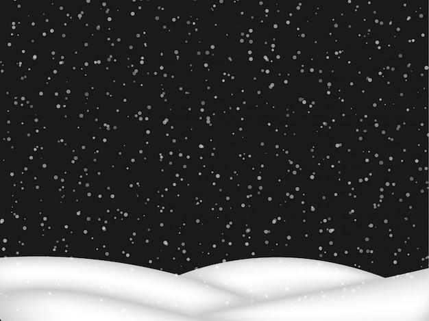 Fallender schnee Premium Vektoren