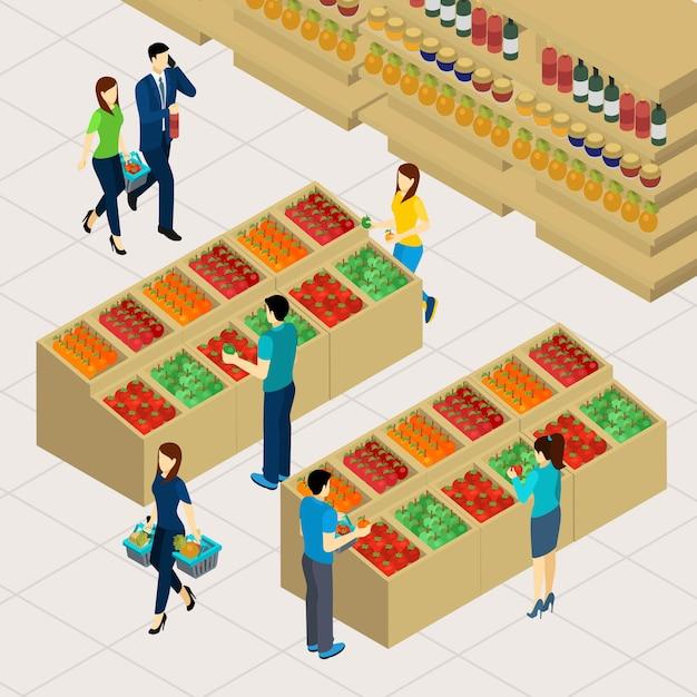 Familie einkaufen illustration Kostenlosen Vektoren