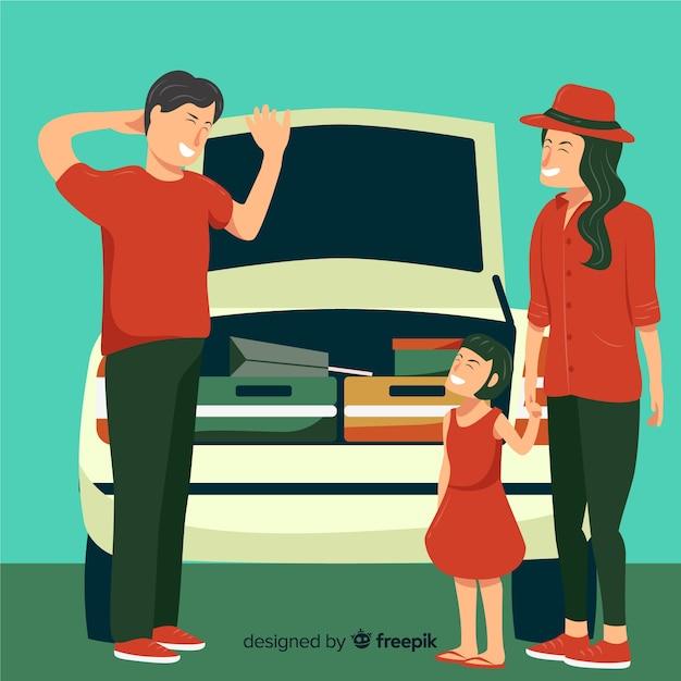 Familie reisen Kostenlosen Vektoren