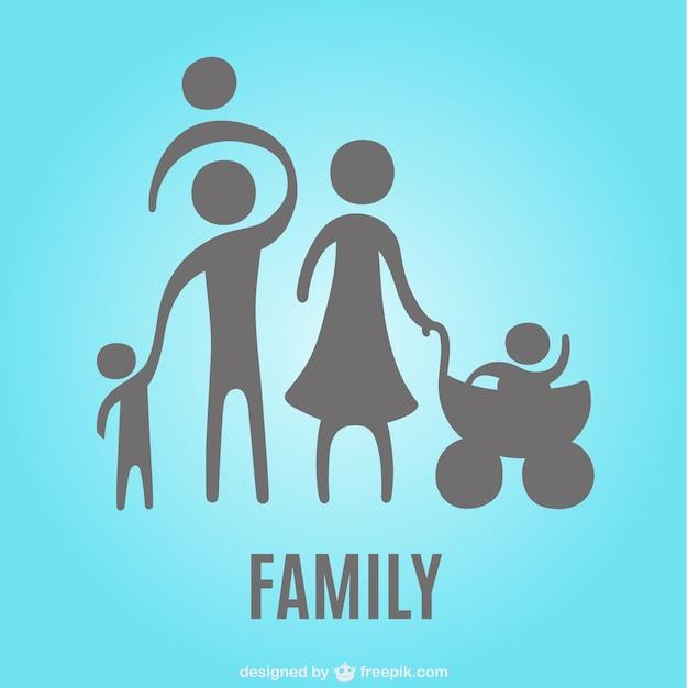familie silhouetten symbol download der kostenlosen vektor. Black Bedroom Furniture Sets. Home Design Ideas