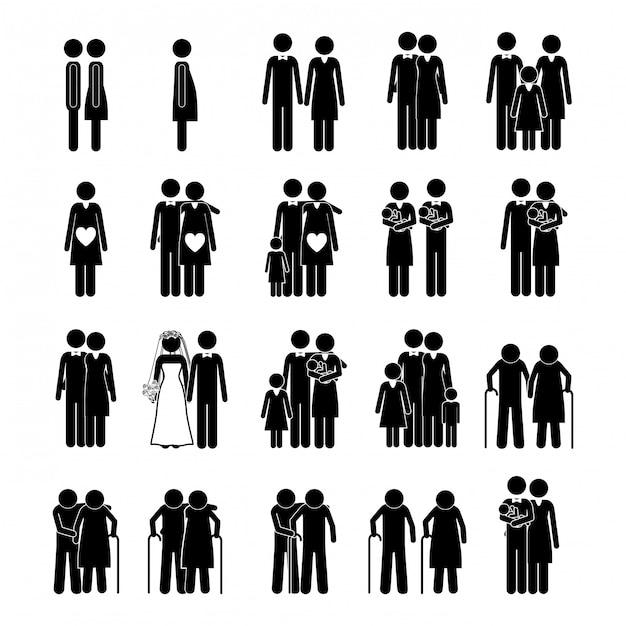 Familiendesign Premium Vektoren