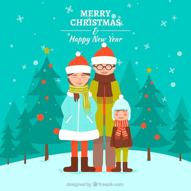 Familienhintergrund für frohe Weihnachten und guten Rutsch ins Neue ...