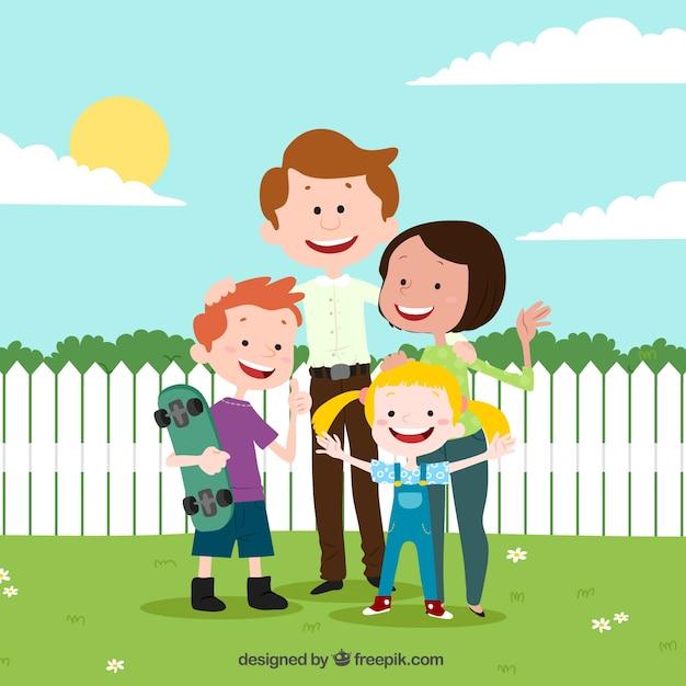 Familienhintergrundentwurf Kostenlose Vektoren