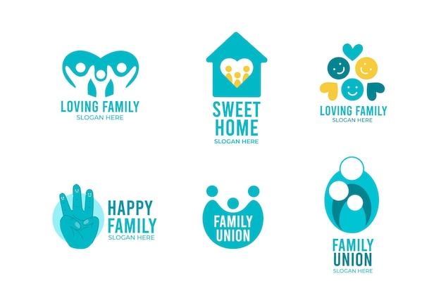 Familienlogo-sammlung Kostenlosen Vektoren