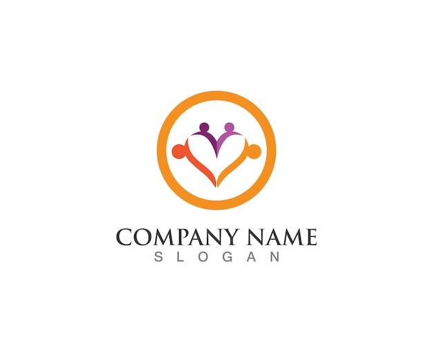 Familienpflege logo symbole vorlage Premium Vektoren