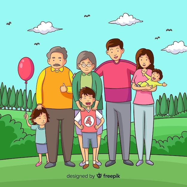 Familienporträt Kostenlosen Vektoren