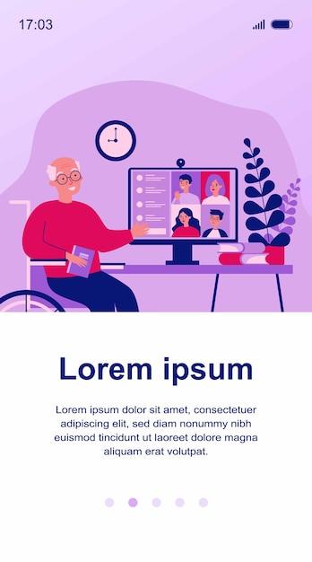 Familientreffen online-illustration Premium Vektoren
