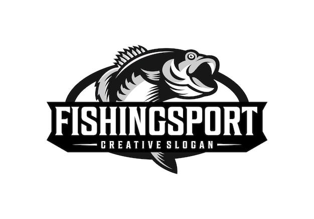 Fantastische angel-sport-logo-design-vorlage Premium Vektoren