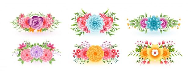 Fantastische blumenblumen für dekorationszwecke Kostenlosen Vektoren