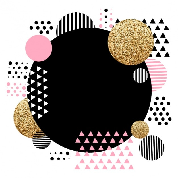 Fantastische geometrischen hintergrund mit rosa details Premium Vektoren