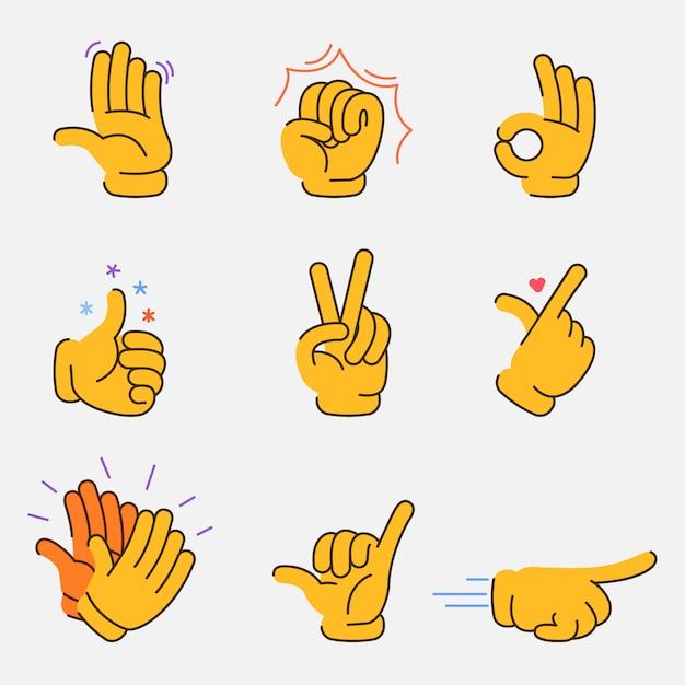 Fantastische handzeichen-grafiksammlung Premium Vektoren